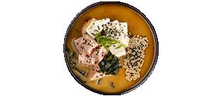 Місо-ширу з лососем